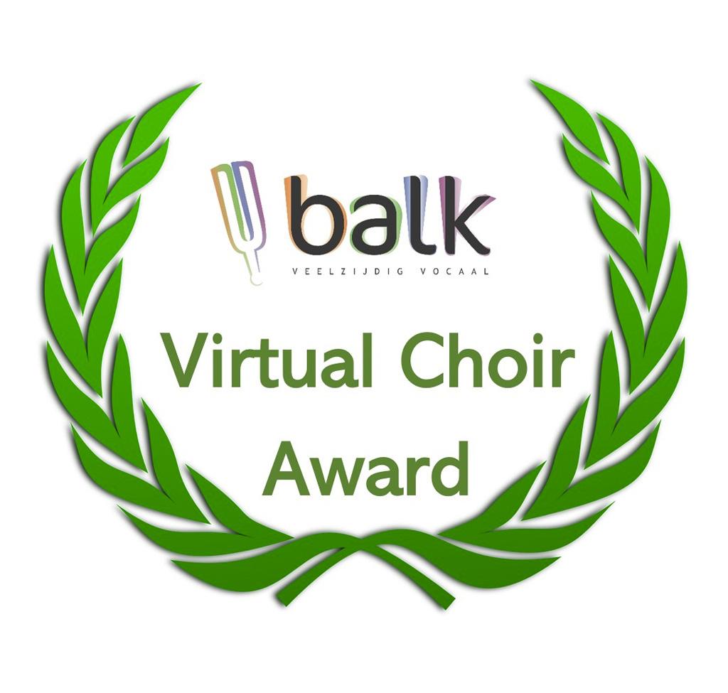 Eervolle Vermelding Balk Virtual Choir Award