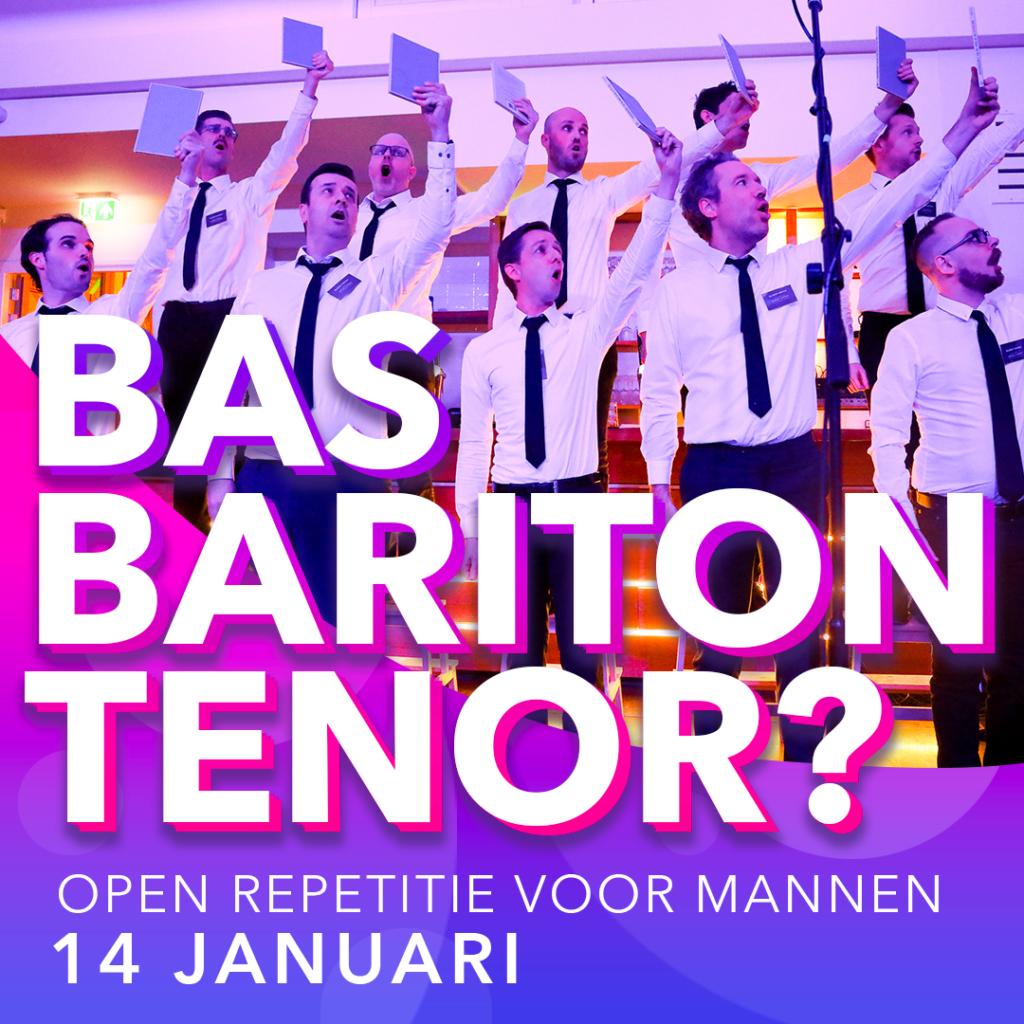 Mannen: Kom naar de open repetitie op 14 januari